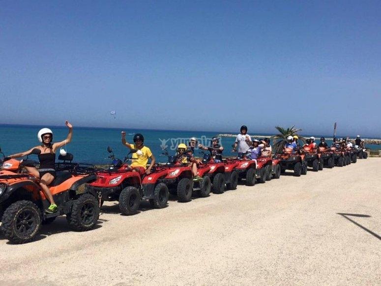 I quad sulla costa siciliana