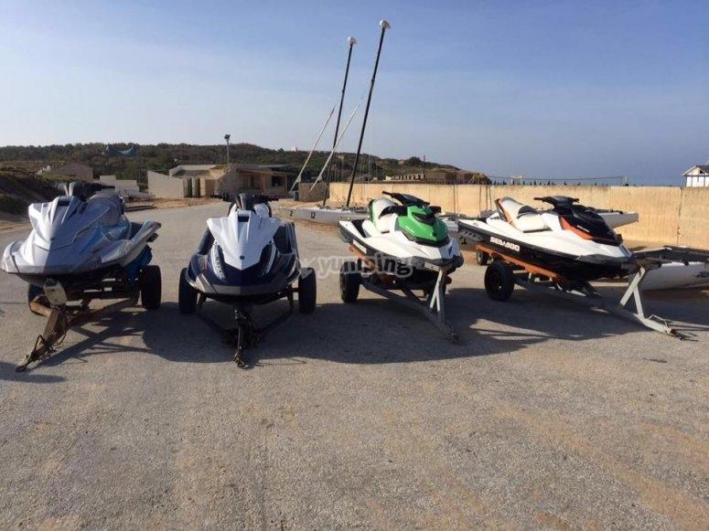 Jet skis await you in Scoglitti