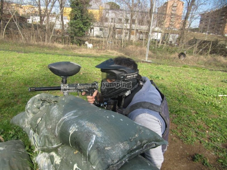Cecchino di paintball
