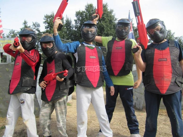 Compleanno al paintball