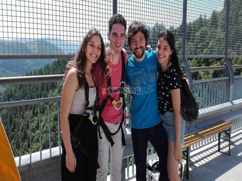 Sul ponte in Valgadena