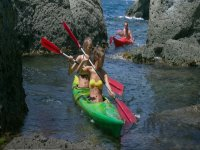 By kayak