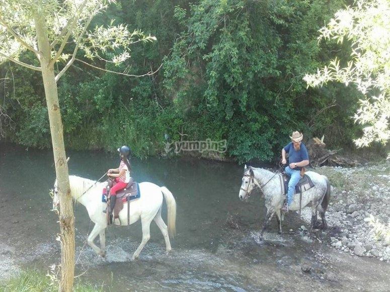 Guadando il fiume