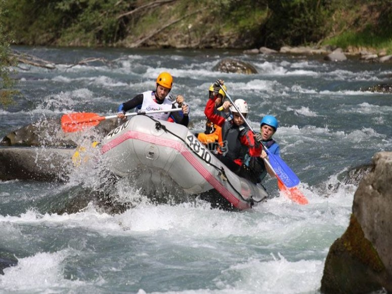 Rafting nel fiume