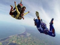 Two-seater parachute launch + external video, Ravenna