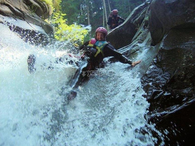 Cascata nel torrente