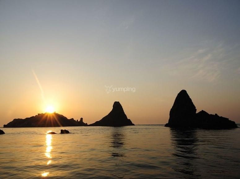 I faraglioni al tramonto