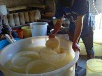 Momenti della lavorazione del formaggio