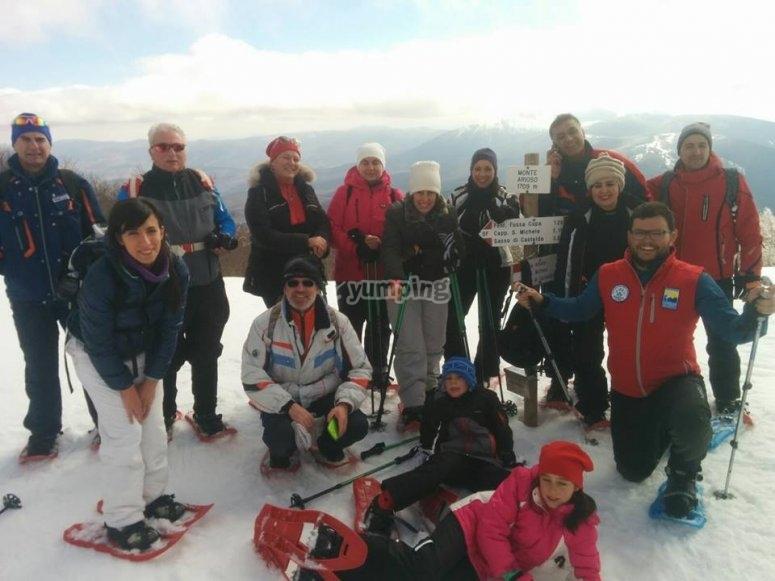 Group photo on the summit