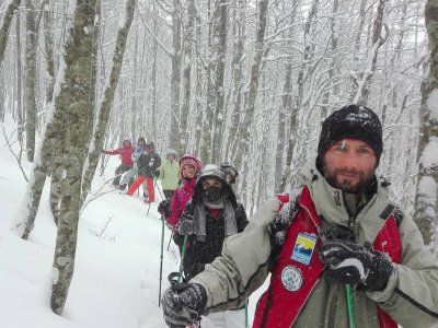 Snowshoeing on Monte Pierfaone and Monte Arioso (5h)