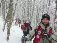 Snowshoeing in company