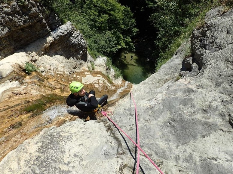 Canyoning en compagnie