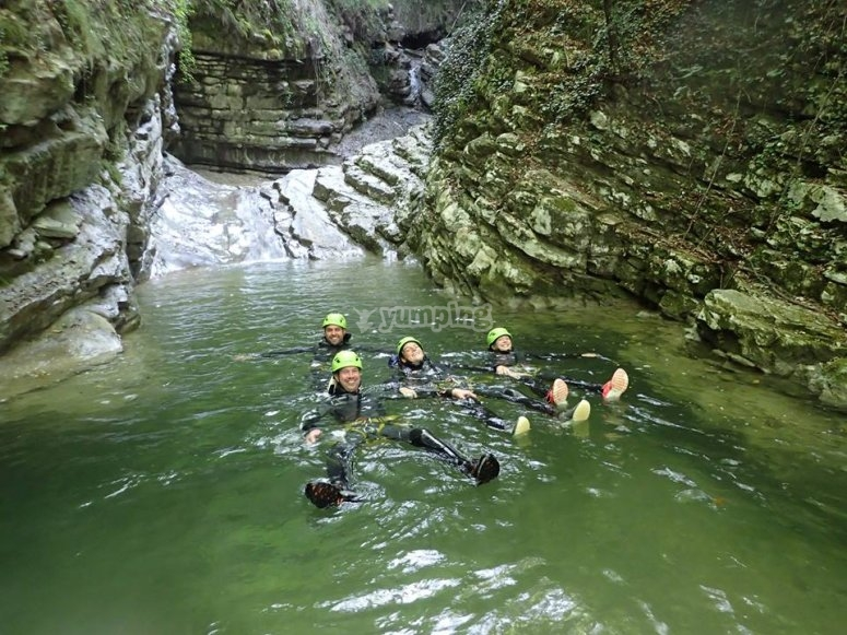 Canyoning nel torrente