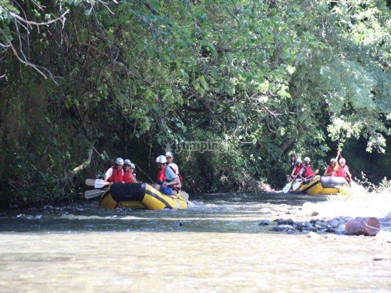 Un bel gruppo in rafting