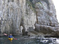 canoa e vista mozzafiato