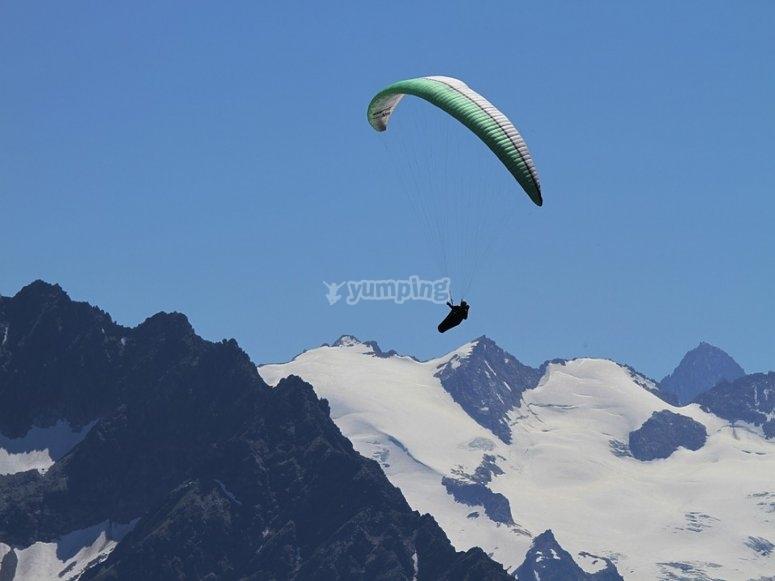 In volo sulle Alpi