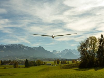 Volo in aliante in Valle d'Aosta (2h)