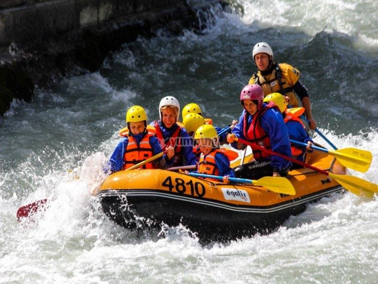 Rafting ad Aosta