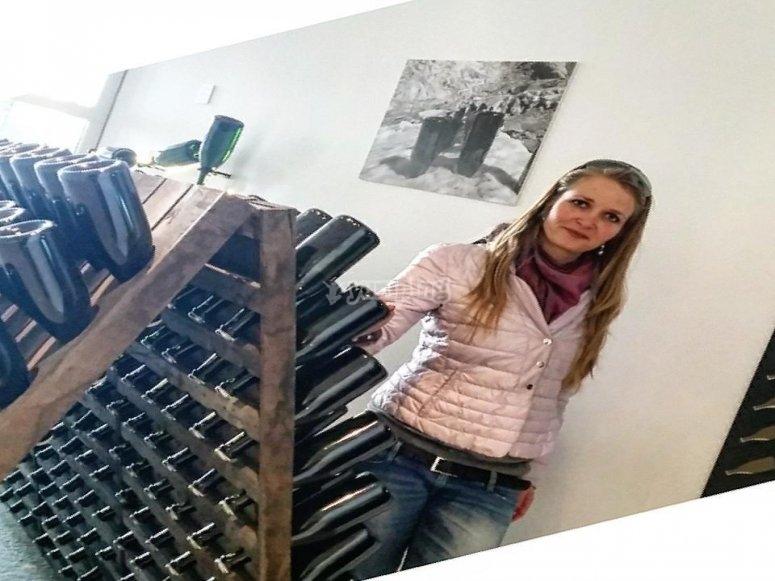 Una cantina di vino ad Aosta