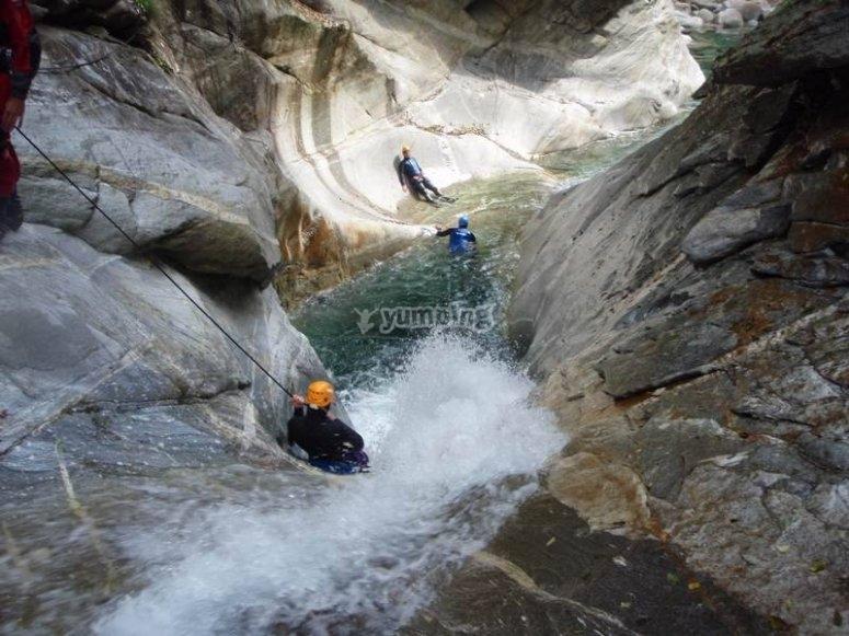 Canyoning nelle Alpi
