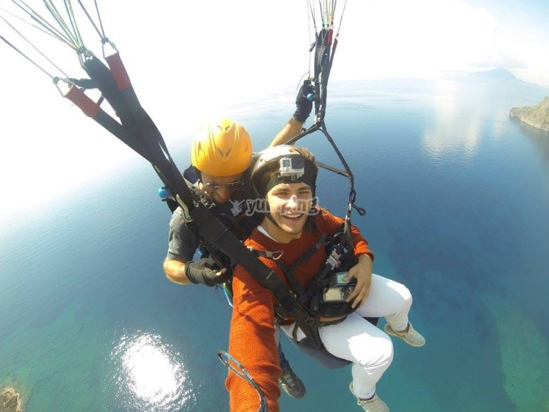 In volo sul mare a Maratea