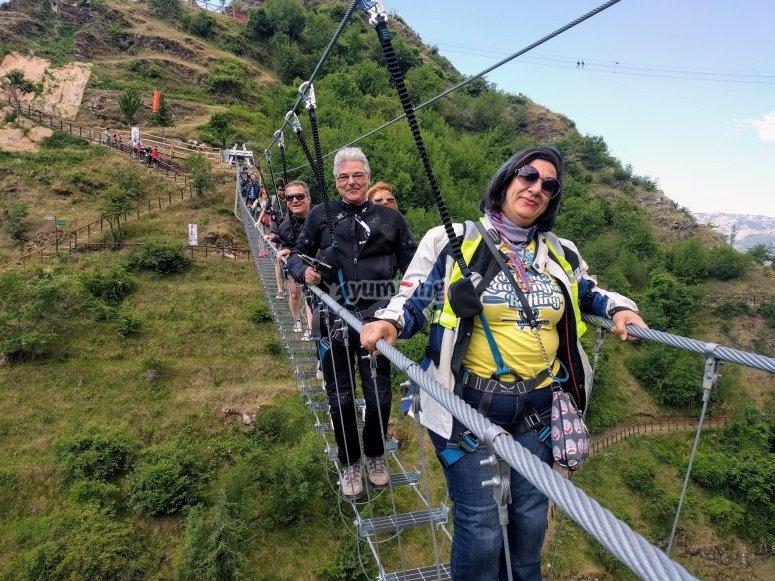 On the Tibetan bridge