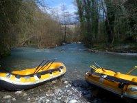 Rafting nel fiume Lao
