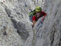 Durante l'arrampicata
