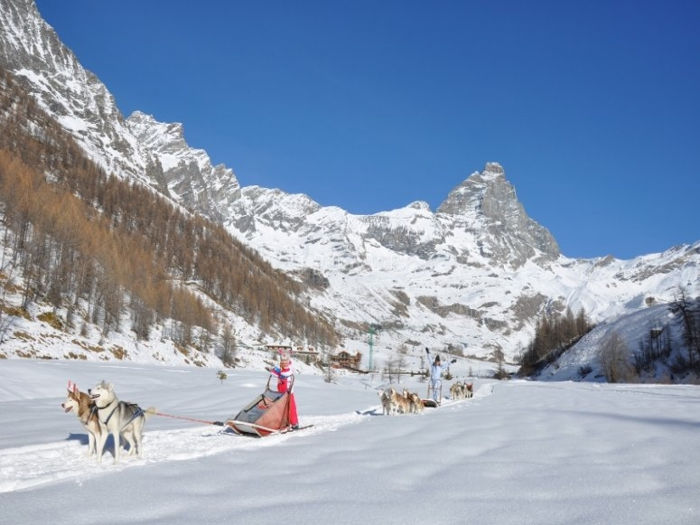 On the snow of Valle d'Aosta