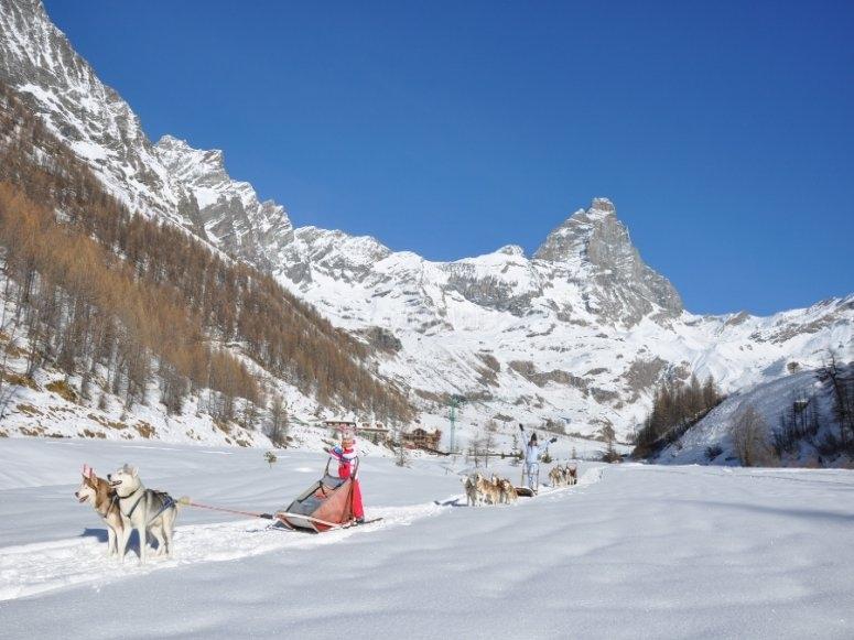 Sulla neve della Valle d'Aosta