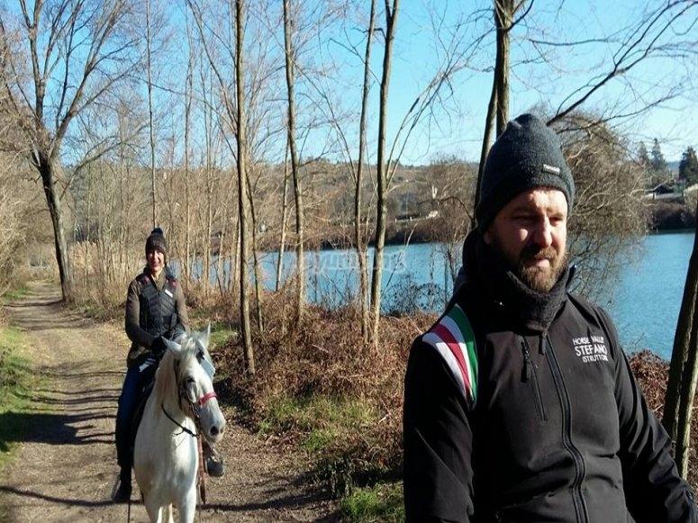 passeggiando a cavallo