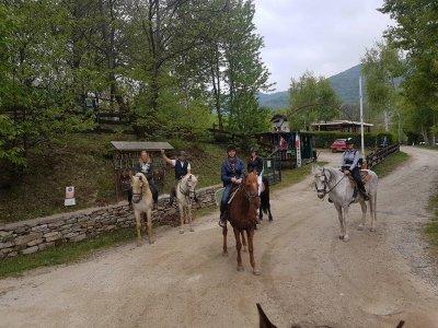 Passeggiata a cavallo di 1 ora a San Gilio