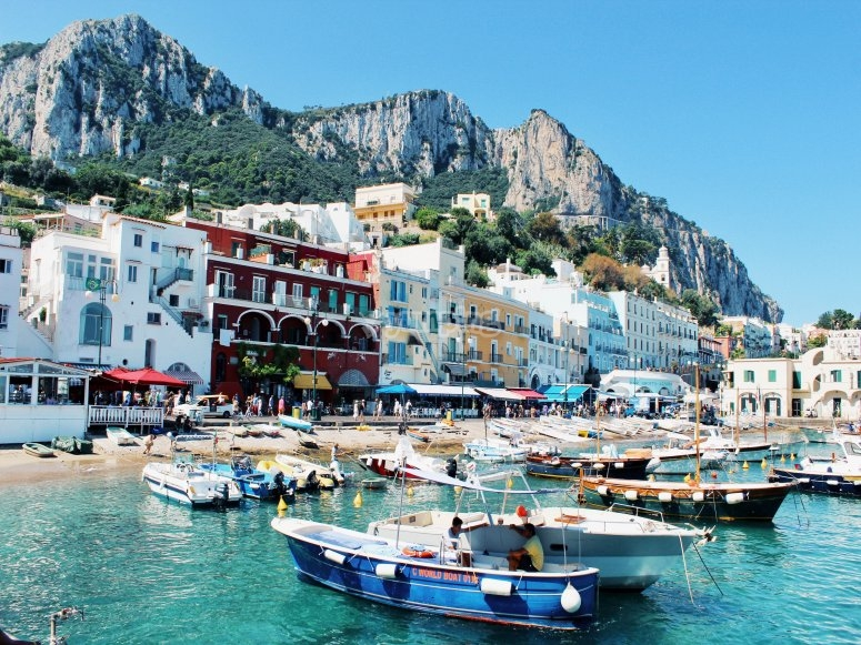 Capri by boat