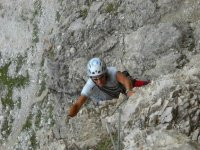 Climbing in Lavaredo