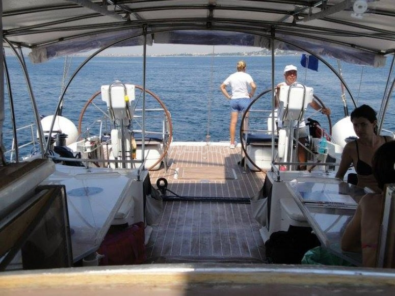 la barca dall'interno