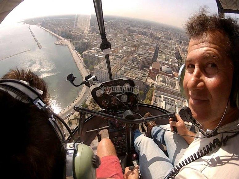 Selfie in elicottero