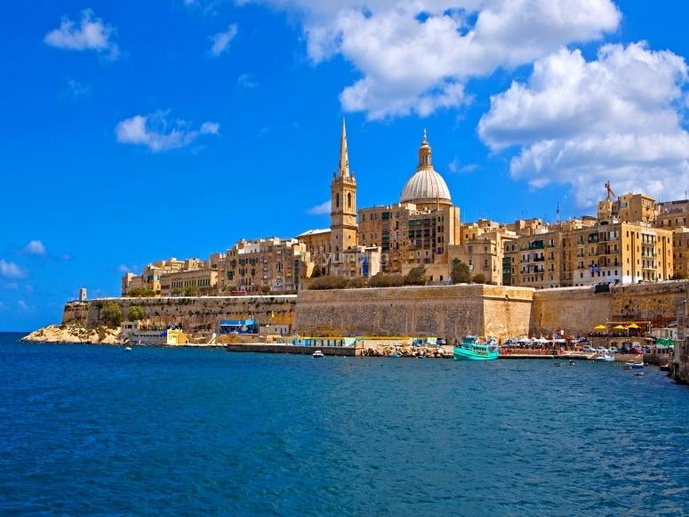 vista di Malta dal mare