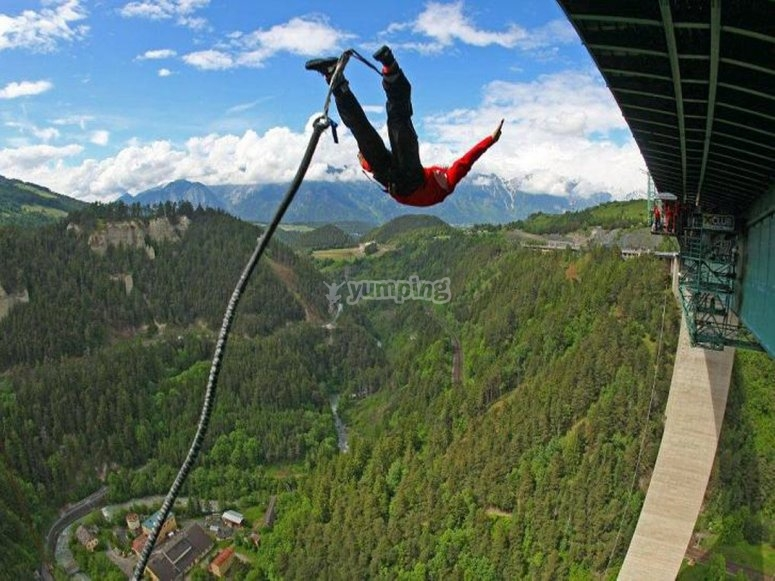 The jump from the highest bridge in Europe