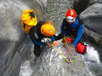 canyoning di gruppo