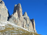the walls of the dolomites