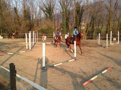 Lezione di equitazione di 1h a Mompeo
