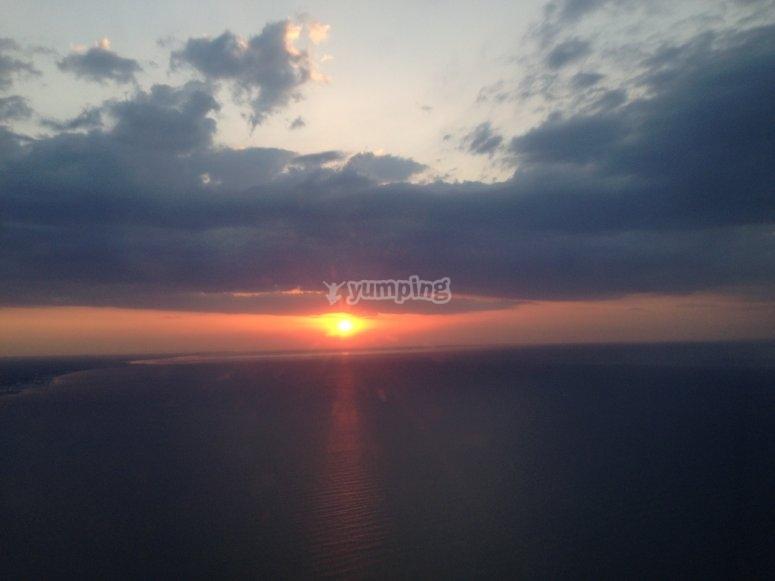 un tramonto unico