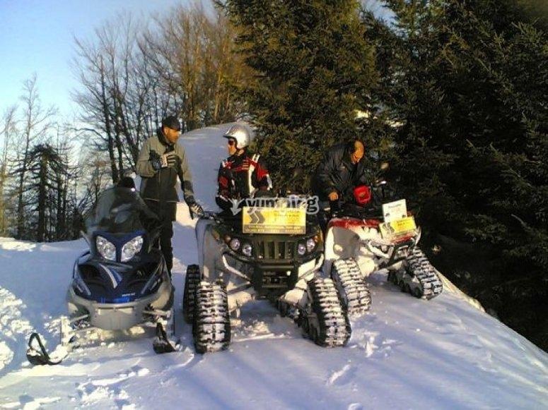 esperienze invernali in quad