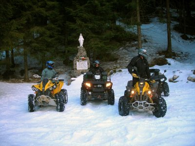 Escursione x2 pers in quad di 6h Taormina  inverno