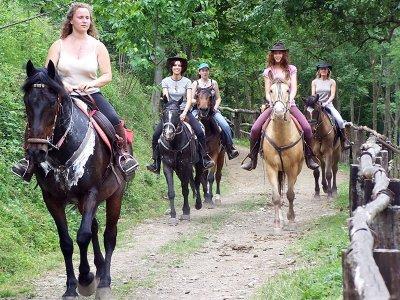 Passeggiata a cavallo a Uzzano di un'ora