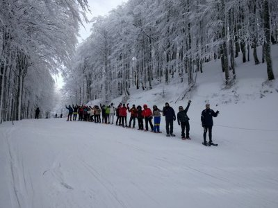 5h snowshoeing in the Sellata slope in Potenza