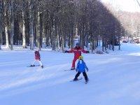 sciando sulle nostre piste