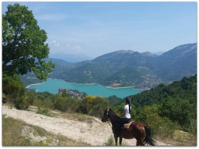 Giro lago Campolattaro a cavallo in 6h esperti
