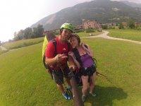 Paragliding flight in tandem to Suello