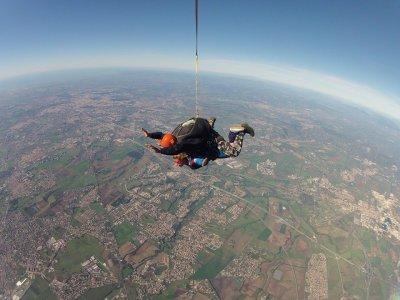 Salto paracadute selfie+foto+video, Roma
